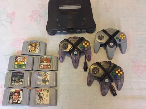 Nintendo 64 + 7 juegos + 3 controles