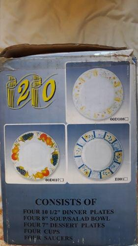 Juego de vajilla de porcelana para navidad 20 piezas