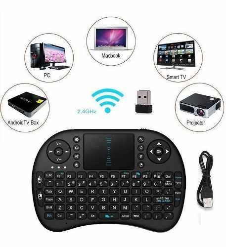Mini teclado bluetooth scroll smart tv tablet pc xbox ps4