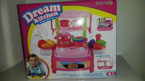 Cocina de niña juguete con sonidos y luces