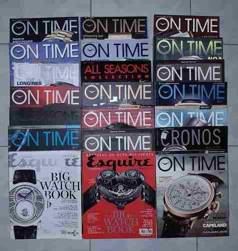 Colección de revistas de relojes