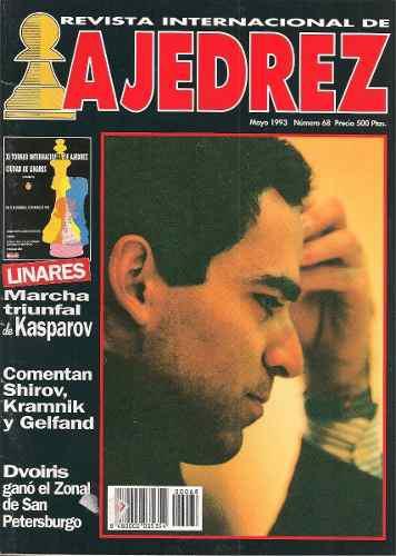 Marcha triunfal de kasparov en revista internacional ajedrez