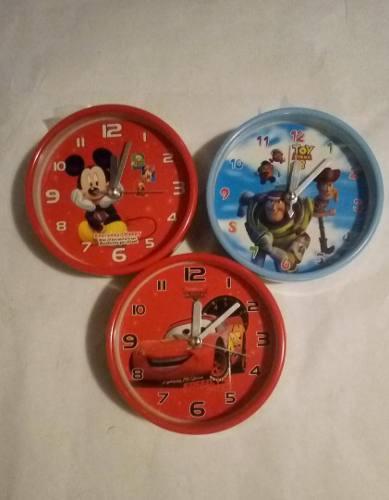 Reloj despertador d mesa alarma niños toys tory mickie cars