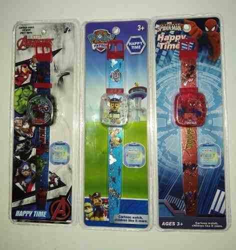Reloj digital para niños spiderman, avengers, paw patrol