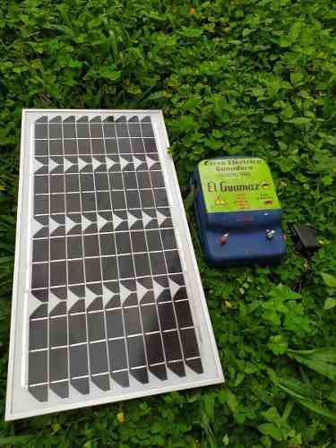 Cerco eléctrico ganadero dual kit a panel solar cargador