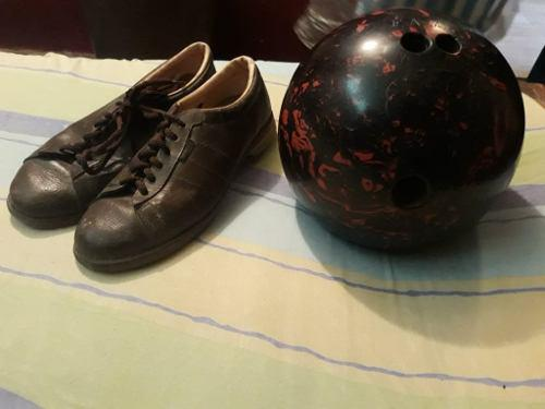 Bola De Bowling Nro 10 Y Zapatos Nro 41