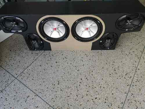 Equipo sonido cajón bajo kicker 6x9 lanzar powerbass