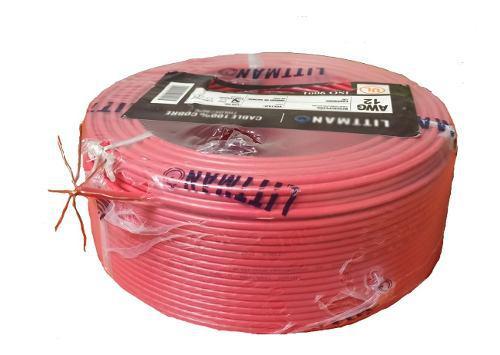 Cable y/o conductor electrico n°12 100% cobre