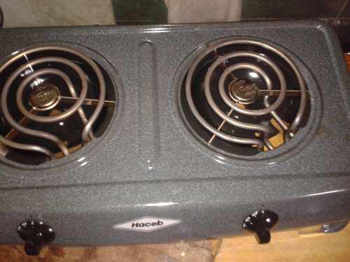 Cocina electrica marca haceb de una y dos hornillas 1 año