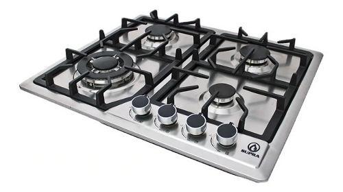 Tope De Cocina Empotrable A Gas 60 Cm Acero Inoxidable