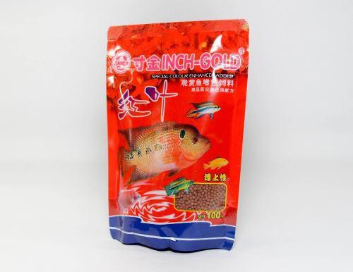 Alimento potenciador color inch gold 100gr pellets peces