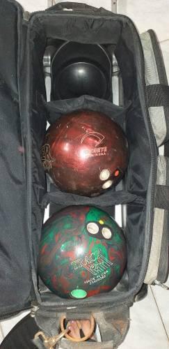 Bolso Bowling Con Accesorios
