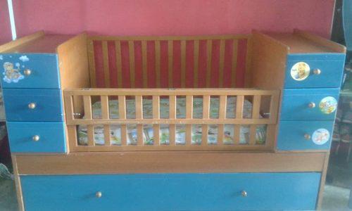 Cama cuna convertible dos gaveteros cama individual bebes