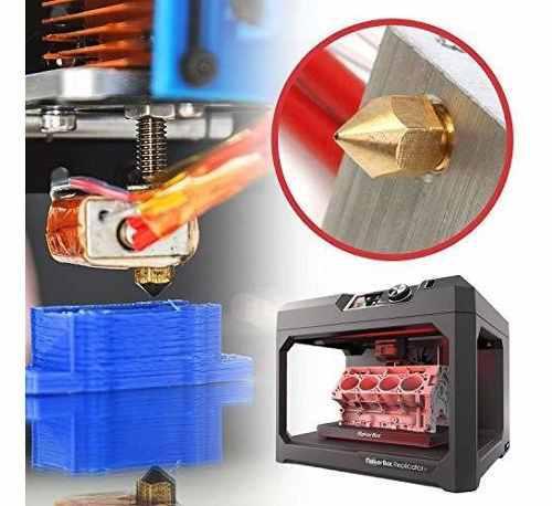 Para impresora boquilla 3d laton mk8 0.016 in cabezal