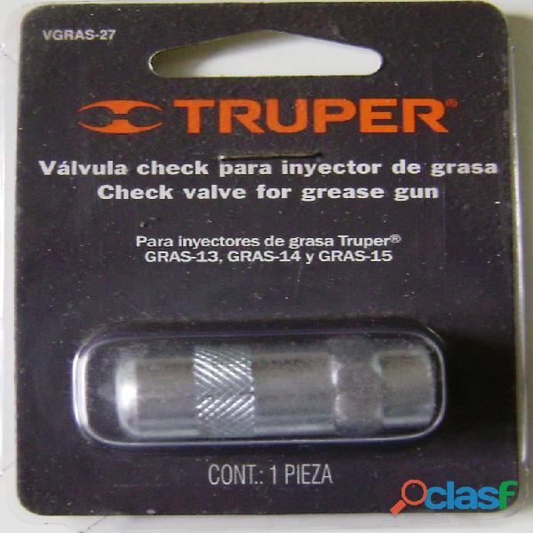 Válvula check para inyectores de grasa Truper 14926