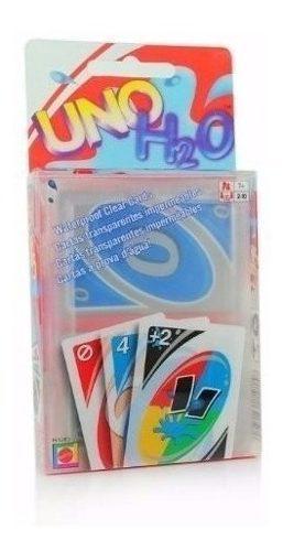 Juegos uno h2o cartas niños juego mesa carta plastica