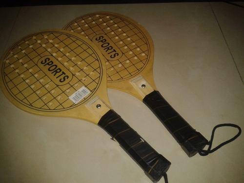 Raquetas de tenis de playa de madera