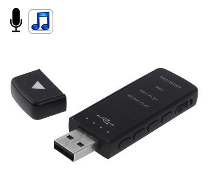 Grabadora voz digital reproductor mp3 memoria 8gb uysu