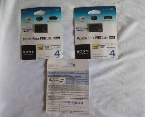 Memory Stick Pro Duo Mark2 4gb Sony (5)v