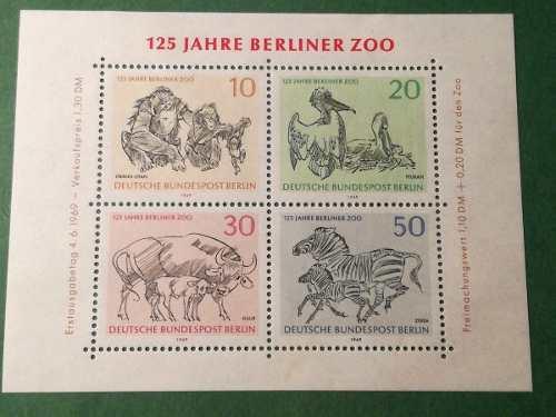 Estampillas de berlin (alemania) 125 años de berlin
