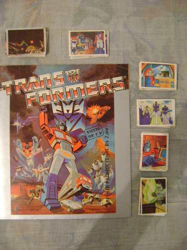 Transformers Álbum De Barajitas Original De Los 80s (20$)