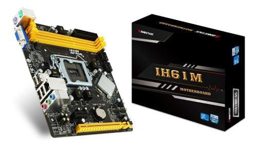 Tarjeta Madre Biostar Intel H61 Lga1155 2xddr3 1600 4xsata V