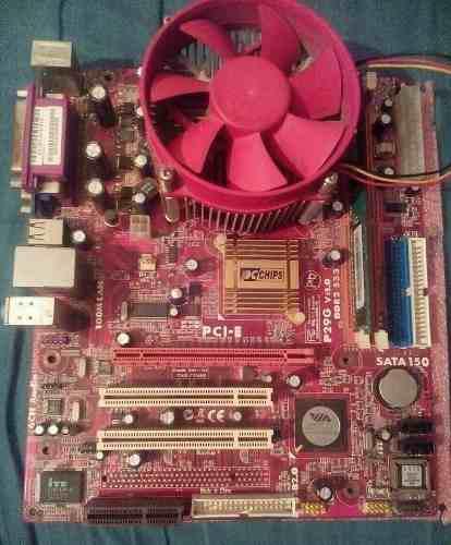 Tarjeta Madre Socket 775 Ddr2 Con Procesador Y Ram
