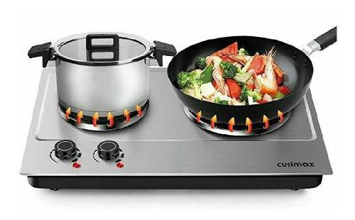 Cocina electrica portatil 2 hornillas acero inoxidable nueva