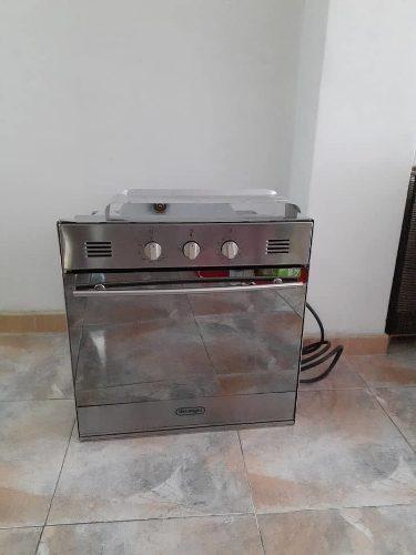 Horno italiano tipo espejo a gas con rostizador electrico
