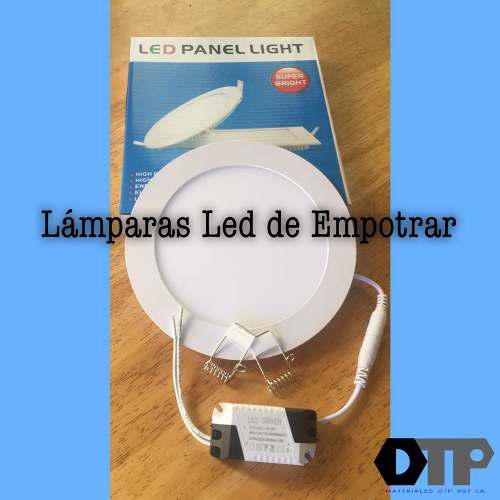 Lamparas led p/empotrar 12w 170mm circular