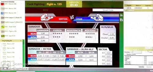 Software sistema de apuestas peleas gallos caballos galgos