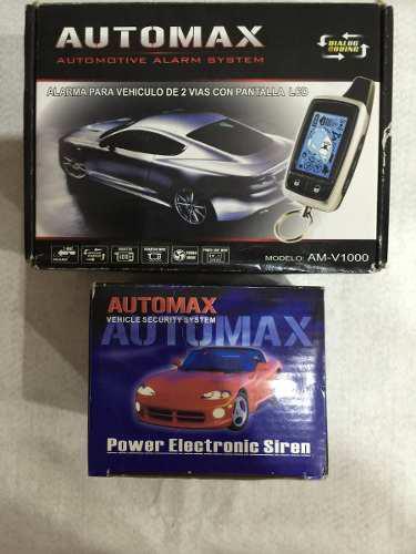Alarma automax con 2 controles lcd digital + sirena