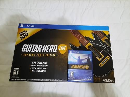 Guitar Hero Live Ps4 Guitarras + Cd Original
