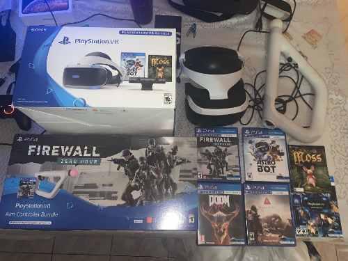 Playstation Vr (psvr) + Aim Controller + 5 Juegos