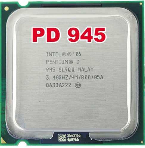 Procesador pentium d 945 3.40ghz caché 4m,bus 800mhz (6v)