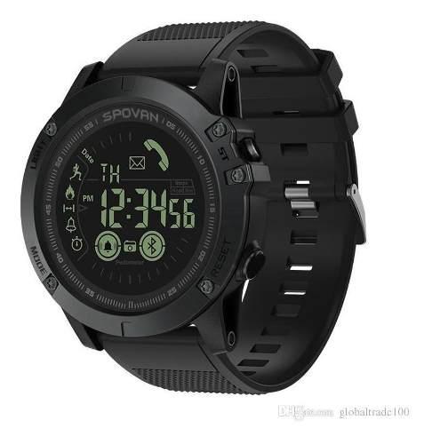 Reloj táctico inteligente bluetooh spovan android iphone