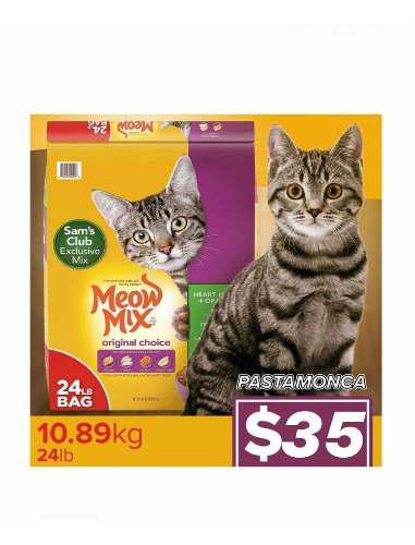 Alimento para gatos importado meow mix 10.89 kg