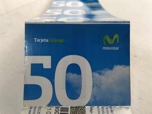 Colección tarjeta telefónica movistar 50bs difícil nueva