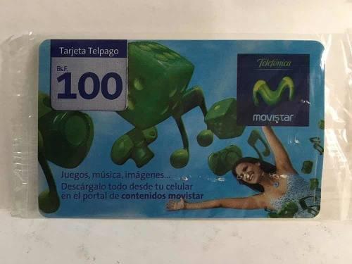 Colección tarjeta telefonica movistar 100bs difícil nueva