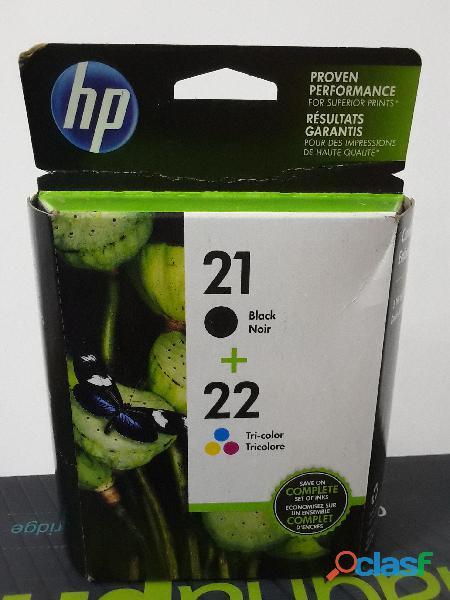 Cartucho tinta hp original numero 21 y 22