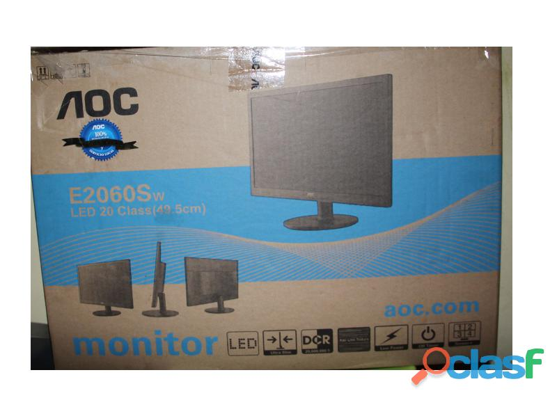 Monitor aoc  led de 20 pulgadas