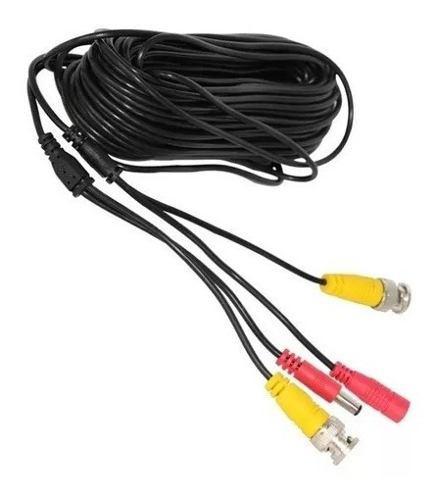 7 cable camara video corriente 18 mts bnc plug 12v 18 metros