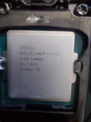 Procesador intel core i5-4670k 3.4ghz sckt 1150 (90v)
