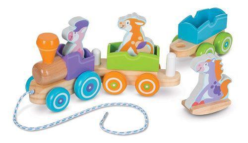 Tren animales de la granja melissa & doug juguetes bebés