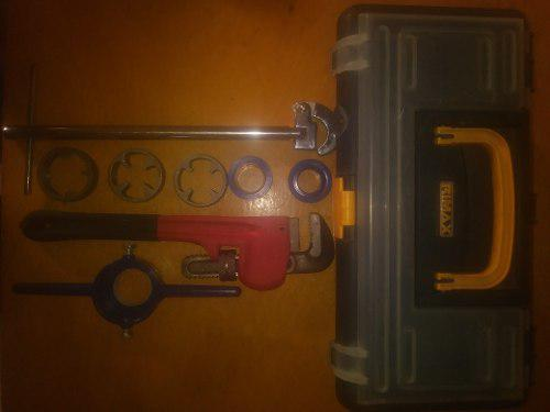 Caja de herramientas para plomeria semi equipada