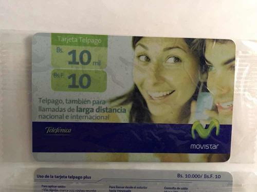 Colección tarjeta telefónica movistar 10bs difícil nueva