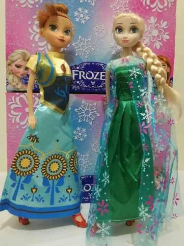 Muñeca frozen anna y elsa tipo barbie c/u