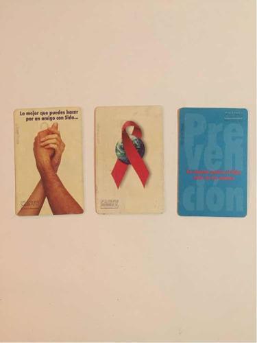 Tarjetas telefónicas colección lucha contra el sida