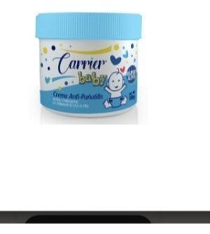Crema pañalitis carrier baby con oxido de zinc 100g
