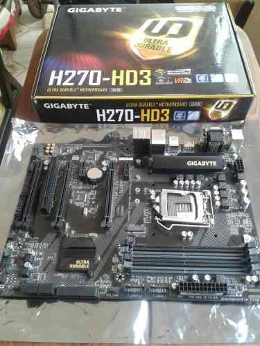 Tarjeta madre gigabyte h270-hd3 en perfectas condiciones